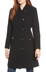 Marc New York Single Breasted Melton Coat Black