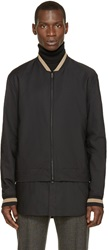 3.1 Phillip Lim Black Hybrid Bomber Jacket