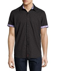 Robert Graham Orbital Paisley Print Woven Shirt Black