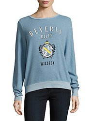Wildfox Couture Graphic Long Sleeve Pullover Dahlia