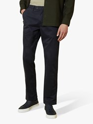 Ted Baker Clncere Straight Classic Fit Chinos Navy