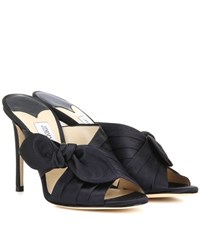 Jimmy Choo Keely 100 Satin Sandals Blue