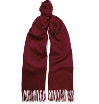 Begg And Co Arran Cashmere Scarf Claret