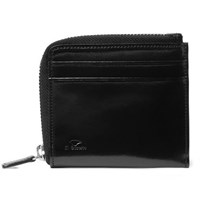 Il Bussetto Polished Leather Zip Around Wallet Black