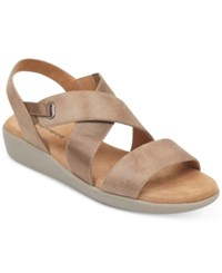 Easy Spirit Kalani Wedge Sandals Women's Shoes Taupe