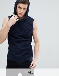 French Connection Tall Sleeveless Hoodie Grey