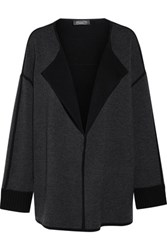 Magaschoni Merino Wool Blend Cardigan Charcoal