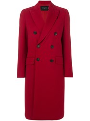Dsquared2 Double Breasted Coat Women Polyester Spandex Elastane Viscose Virgin Wool 42