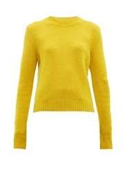 Bottega Veneta Exaggerated Sleeve Cashmere Blend Sweater Yellow