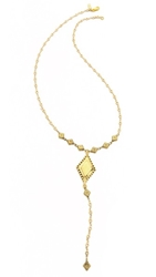 Vanessa Mooney My Cherie Rosary Necklace Gold