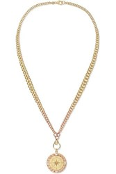 Foundrae Course Correction 18 Karat Yellow And Rose Gold Diamond Necklace One Size