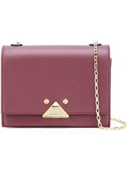 Emporio Armani Logo Plaque Crossbody Bag Pink Purple