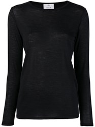 Allude Long Sleeved T Shirt Black