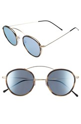 Spektre Women's 'Met Ro 2' 48Mm Flat Sunglasses Gold Latte Silver Mirror Gold Latte Silver Mirror