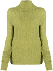 Jacquemus Long Sleeve Knitted Jumper Green