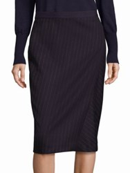 Max Mara Vik Pinstripe Pencil Skirt Ultramarine