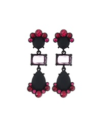 Fragments For Neiman Marcus Fragments Rubber Coated Drop Earrings W Rhinestones