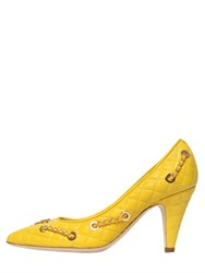 Moschino 80Mm Chained Quilted Leather Pumps