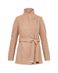 Ted Baker Elethea Short Wrap Coat Camel