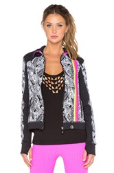 Trina Turk Harbour Island Jacket Black And White