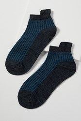 Becksondergaard Summer Metallic Striped Ankle Socks Blue