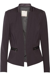 Rebecca Taylor Zip Detailed Cotton Blend Blazer