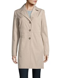 Ivanka Trump Button Front Trench Coat Stone