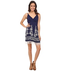 Scully Ruth Fringe Sun Dress Navy Women's Dress
