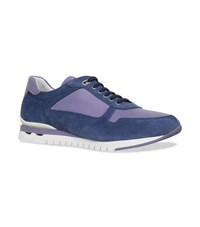 Stefano Ricci Suede Leather Sneakers Blue