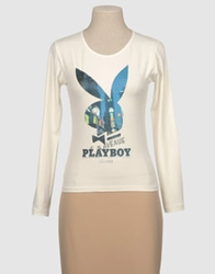 Playboy Long Sleeve T Shirts Dark Blue