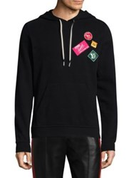 Bally Patched Cotton Hoodie Black