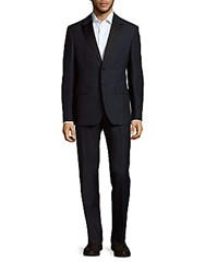 Valentino Classic Mohair Wool Blend Suit Black