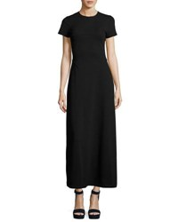 Opening Ceremony Short Sleeve Polo Maxi Dress Black