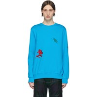 Paul Smith Ssense Exclusive Blue Embroidered Charm Sweatshirt
