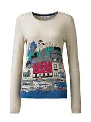 Tulchan Harbour Scene Jumper Multi Coloured