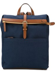 Mismo 'M S Express' Fold Over Buckle Detail Backpack Blue