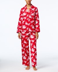 Charter Club Printed Flannel Pajama Set Only At Macy's Roses