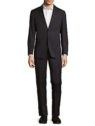 Todd Snyder Striped Wool Suit Charcoal