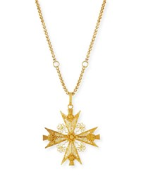Turner And Tatler Maltese Cross Filigree Pendant Necklace