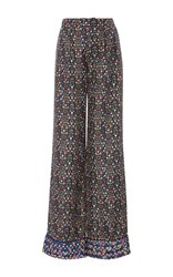 Cynthia Rowley Silk Printed Trousers Floral