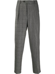 Lc23 Pleated Waist Checked Pattern Trousers 60