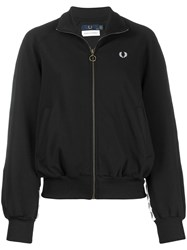 Fred Perry Embroidered Logo Bomber Jacket Black