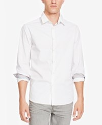 Kenneth Cole New York Men's Slim Fit Circle Print Shirt White Combo