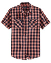 American Rag Men's Banarama Short Sleeve Shirt Only At Macy's Sunbaked Clay