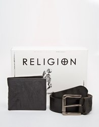 Religion Wallet And Belt Gift Set Black