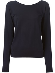 Theory Deep V Back Sweater Blue