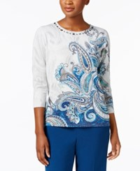 Alfred Dunner Embellished Metallic Sweater Multi