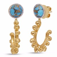 Lmj Rise And Shine Earrings Gold