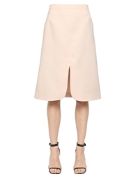 Jill Stuart Cotton Blend A Line Skirt Beige