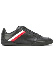 Christian Dior Homme Stripe Panel Lace Up Sneakers Black